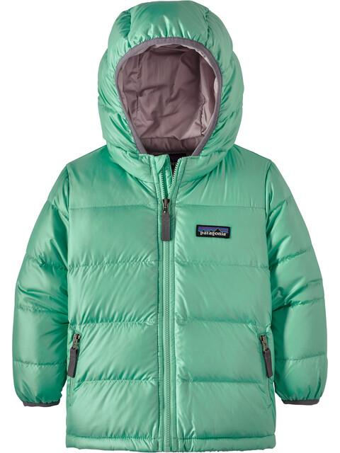Patagonia Hi-Loft Down Sweater Hoody Baby vjosa green